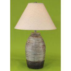 Coastal Lamp Ginger Jar Ribbed Pot