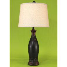 Coastal Lamp Casual Pedestal Lamp W/ Ribbed Neck
