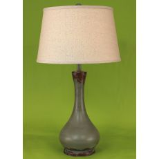 Coastal Lamp Smooth Genie Bottle Pot - Aged Atlantic Grey