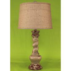 """Coastal Lamp """"B"""" Pot W/ Twist - 14X16"""