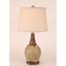 Coastal Lamp Round Accent Pot W/ Ribbed Neck