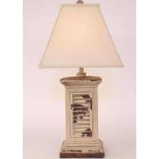 Coastal Lamp Square Shutter Pot