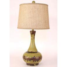 Coastal Lamp Aladdin Pot - Aged Lime