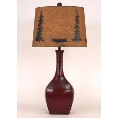 Coastal Lamp Oval Genie Pot - High Gloss Spanish Tile Glaze
