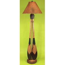 Coastal Lamp 2 Paddle W/ Round Base Floor Lamp