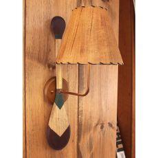 Coastal Lamp 2 Paddle W/ Round Base Sconce