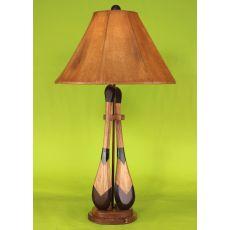 Coastal Lamp 2 Paddle W/ Round Base Table Lamp