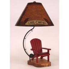 Coastal Lamp Adirondack Chair/Fly Rod