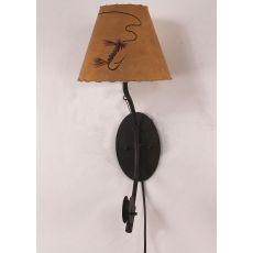 Coastal Lamp Iron Fishing Pole Sconce