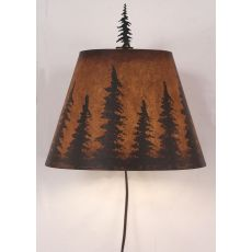Rustic Iron Wall Sconce W/ Pine Tree