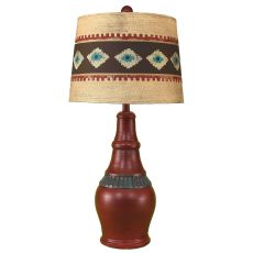 Coastal Lamp Casual Pot W/ Ribbed Accent