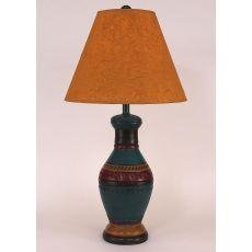 Coastal Lamp Southwest Pot W/ Rhombus Accent - Sante Fe