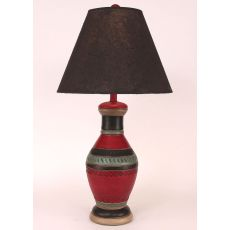 Coastal Lamp Southwest Pot W/ Rhombus Accent - Ranchero