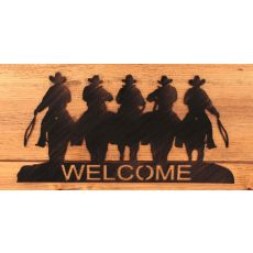 Coastal Lamp Iron Cowboy Welcome Sign