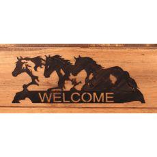 Coastal Lamp Iron Horses Welcome Sign