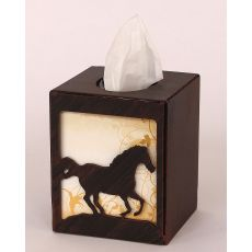 Coastal Lamp Iron Running Horse Square Tissue Box Cover