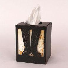 Coastal Lamp Iron Boot Square Tissue Box Cover