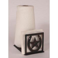 Coastal Lamp Iron Horseshoe/Star Short Paper Towel/Napkin Holder