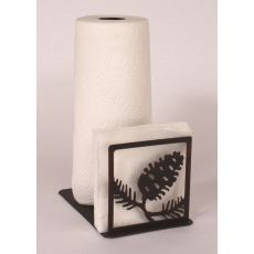 Rustic Iron Pine Cone Short Paper Towel/Napkin Holder