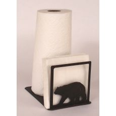 Rustic Iron Bear Short Paper Towel/Napkin Holder