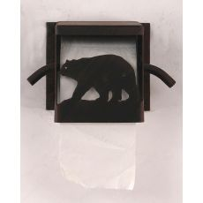 Rustic Iron Bear Toilet Paper Box