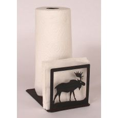 Rustic Iron Moose Short Paper Towel/Napkin Holder