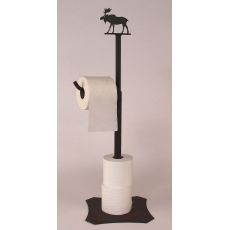 Rustic Iron Moose Toilet Paper Holder