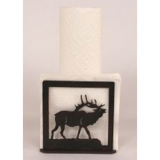 Rustic Iron Elk Short Paper Towel/Napkin Holder
