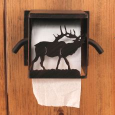 Rustic Iron Elk Toilet Paper Box
