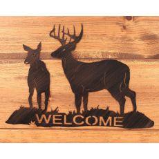 Coastal Lamp Iron Buck & Doe Welcome Sign