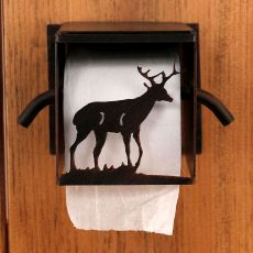 Rustic Iron Deer Toilet Paper Box