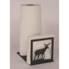Rustic Iron Deer Short Paper Towel/Napkin Holder
