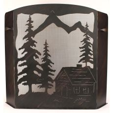 Coastal Lamp Small Cabin Scene Fire Place Screen