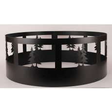 Coastal Lamp Double Pine Tree Campfire Ring