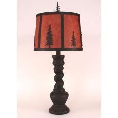 """Coastal Lamp """"B"""" Pot W/ Twist - Burnt Sienna"""