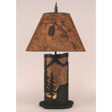 Coastal Lamp Small Cabin Scene Panel W/ Night Light