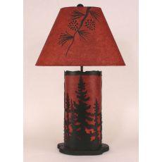 Coastal Lamp Small Feather Tree Panel W/ Night Light