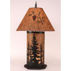 Coastal Lamp Large Feather Tree Panel W/ Night Light