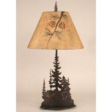 Coastal Lamp Iron Feather Tree/Cabin