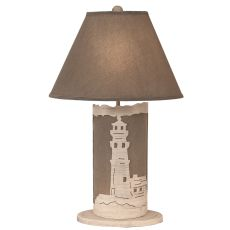 Coastal Lamp Lighthouse Scene Panel W/ Nightlight