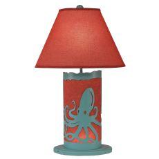 Coastal Lamp Octopus Scene Panel W/ Nightlight