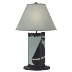 Coastal Lamp Sailboat Scene Panel W/ Nightlight