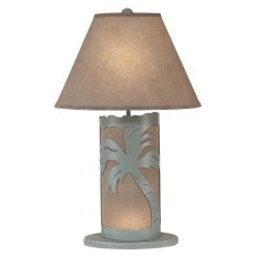 Coastal Lamp Palm Tree Scene Panel W/ Nightlight