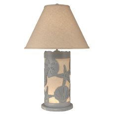 Coastal Lamp Multi Shell Scene Panel W/ Nightlight - Weathered Seaside Villa
