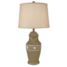 Coastal Lamp Multi Shell Band Pot