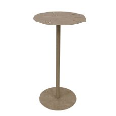 Coastal Lamp Drink Table W/ Sand Dollar Top
