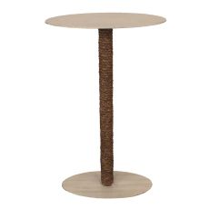 Coastal Lamp Drink Table w/ Oval Top and Rope Accent(DT47)