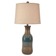 Coastal Lamp Textured Pottery Table Lamp