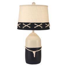 Coastal Lamp Large Buoy Pot W/ White Rope Accent
