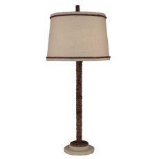 Coastal Lamp Manila Rope W/ Painted Base Table Lamp